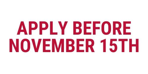 Apply Before November 15th logo